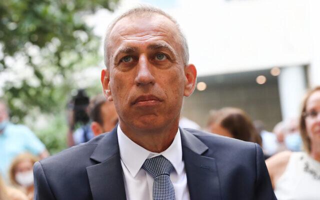 Le nouveau directeur général du ministère de la Santé, Nachman Ash, au ministère de la Santé à Jérusalem le 13 juillet 2021. (Crédit : Flash90)