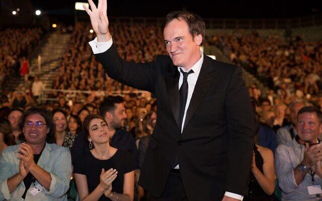 Le réalisateur Quentin Tarantino lors de l'ouverture du Festival du film de Jérusalem, le 24 août 2021 (Crédit : avec l'aimable autorisation de la Cinémathèque de Jérusalem).