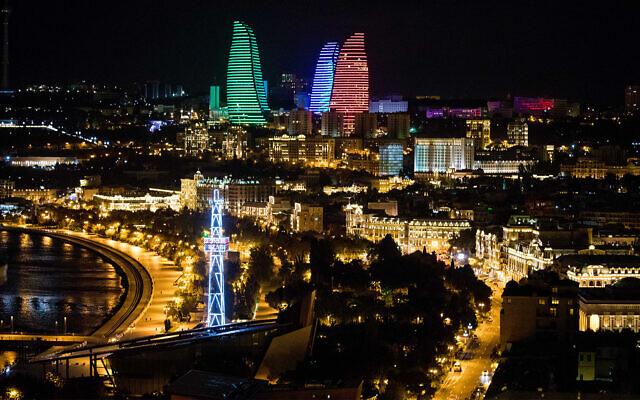 Bakou, la capitale de l'Azerbaijan, le 11 octobre 2019. (Crédit : Nati Shohat/Flash90)