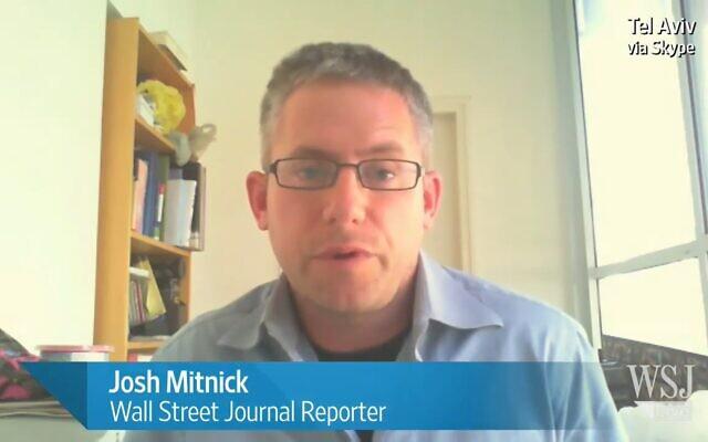 Le journaliste correspondant au Moyen-Orient Josh Mitnick (Capture d'écran/WSJ)