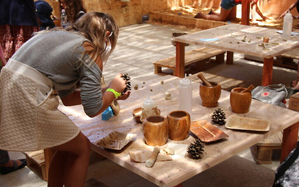 """Un espace interactif pour les enfants à l'exposition """"Early Birds"""" du Musée des Terres de la Bible. (Shmuel Bar-Am)"""
