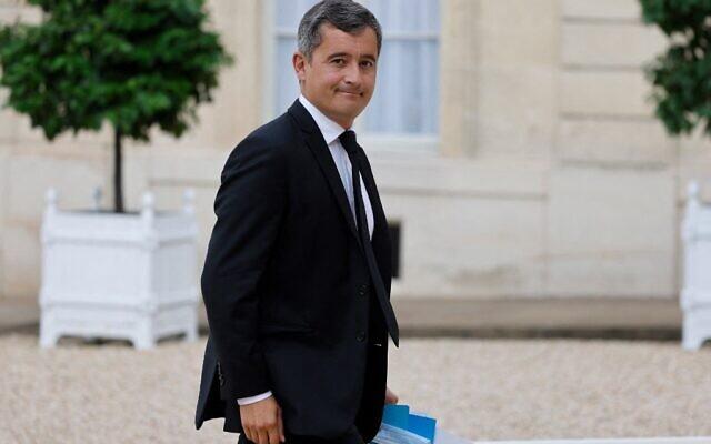 Le ministre français de l'Intérieur Gérald Darmanin arrive à l'Elysée avant la cérémonie en l'honneur des médaillés olympiques et paralympiques français au Tokyo 2021, à Paris le 13 septembre 2021. (Photo de Ludovic MARIN / AFP)