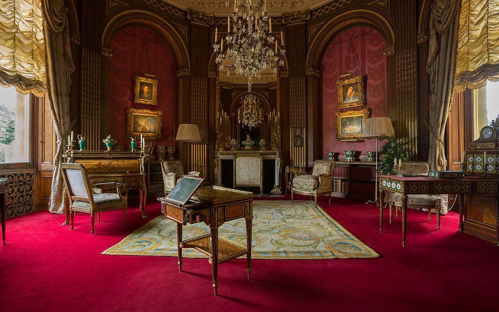 La salle de réception du manoir de  Waddesdon. (Crédit : Chris Lacey (c) National Trust Waddesdon Manor)