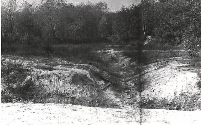 Le site de Babi Yar photographié en 1966. (Crédit : Joseph Schneider via la Bibliothèque nationale d'Israël)