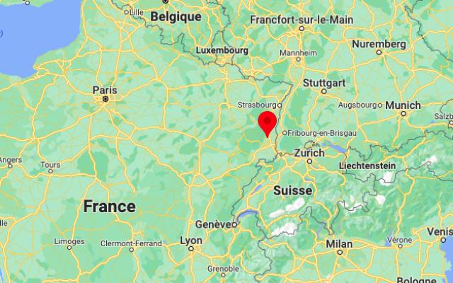 Rouffach, dans le Haut-Rhin. (Crédit : Google Maps)