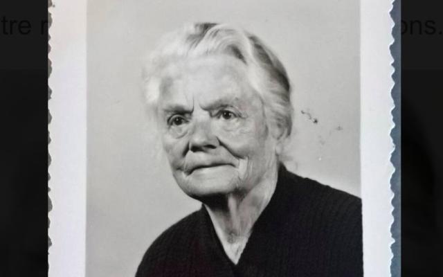 Une photographie datant de 1969 ou 1970 de Léontine Bracchi, une Sarthoise qui a sauvé Daniel et René Herszbaum en 1944. (Crédit : Famille Chaumulon)