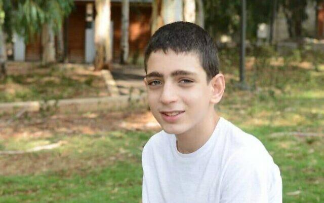 Barak Khoury, 12 ans, a été tué alors qu'il faisait du vélo par une voiture à Yom Kippour, le 15 septembre 2021. (Autorisation)