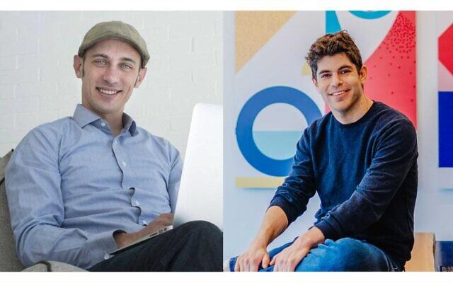 Tobias Lutke, fondateur de Shopify, à gauche, et Tomer Tagrin, fondateur et PDG de Yotpo, à droite. (Crédit : avec l'aimable autorisation de Mor Shani)