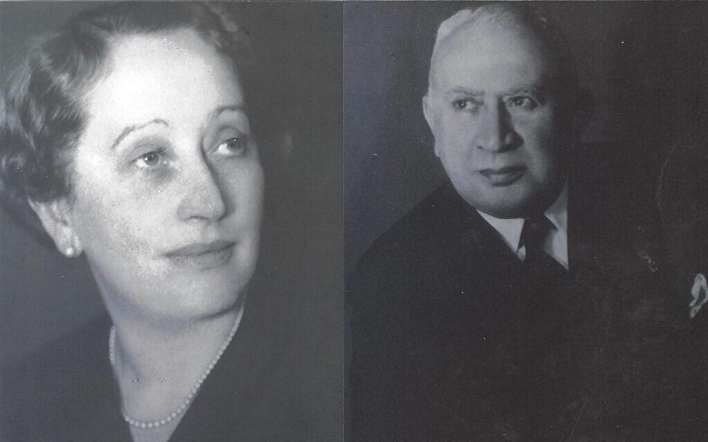 Fritz et Thea Goldschmidt. (Crédit : courtoisie de la famille Goldschmidt)