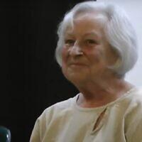 Marcia Freedman en 2013. (Crédit : capture d'écran/YouTube)