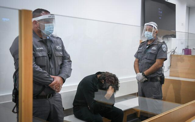 Barak Ben-Ami lors d'une audience au tribunal de district de Lod le 12 septembre 2021. (Crédit : Flash90)