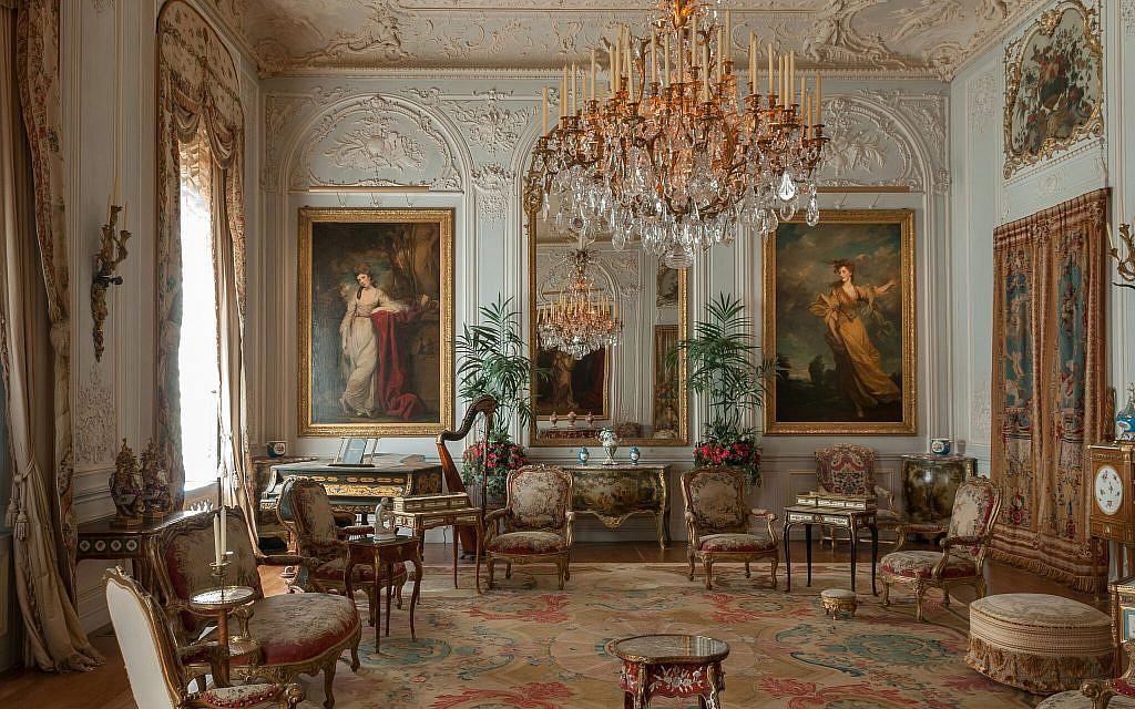 La salle de réception grise du   manoir de Waddesdon. (Crédit : Chris Lacey (c) National Trust Waddesdon Manor)