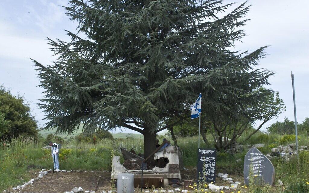 L'Andarta du figuier et du cèdre sur le plateau du Golan. (Crédit : Autorisation de la famille Peled)