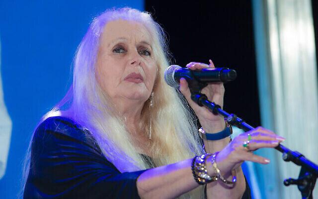 La chanteuse israélienne Miri Aloni, le 11 février 2019. (Moshe Shai/FLASH90)