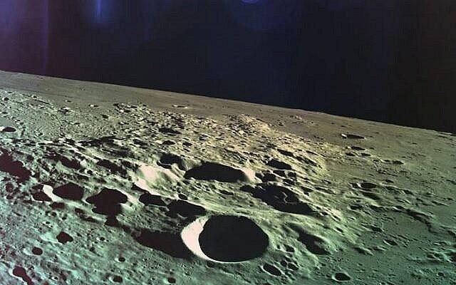 L'une des dernières photos prises par Beresheet avant qu'elle ne s'écrase sur la Lune, le 11 avril 2019. (Avec l'aimable autorisation de SpaceIL)