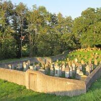 Le cimetière juif du village de Vantoux, en Lorraine. (Crédit : Domaine public)