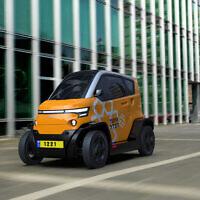Un véhicule City Transformer CT1 aux couleurs et le logo de United Hatzalah. (Crédit : City Transformer)