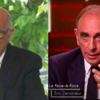 Francis Kalifat et Eric Zemmour. (Crédits : Capture d'écran LCI / Capture d'écran On est en direct, France 2)
