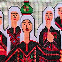 La tapisserie condamnée par le BNVCA prétendant retracer 4 000 ans d'histoire du peuple palestinien. (Crédit : EventBrite / Festival of Palestine)
