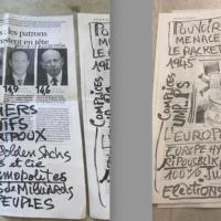 Des écrits antisémites dans des dizaines de boîtes aux lettres de Romainville, en Seine-Saint-Denis. (Crédit : BNVCA)
