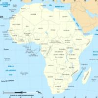 Carte de l'Afrique (Crédit : Eric Gaba – Wikimedia Commons user: Sting)