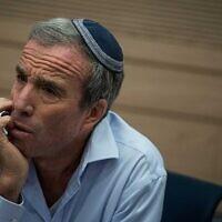 Elazar Stern, membre de la Knesset. (Crédit : Hadas Parush/Flash90)