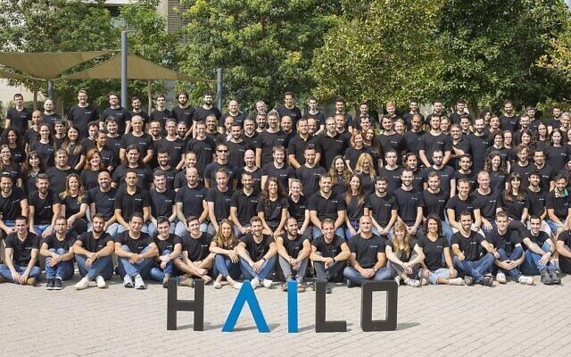 L'équipe de Hailo à Tel Aviv. (Crédit : autorisation)