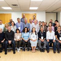 La délégation de maires et de responsables municipaux israéliens qui s'est rendue à New York du 11 au 18 octobre 2021. (Crédit : Ohad Kab)