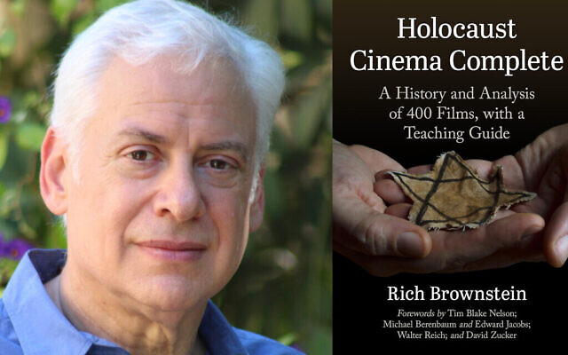 """Rich Brownstein est l'auteur de """"Holocaust Cinema Complete"""", un guide de tous les films sur la Shoah jamais réalisés. (Crédit : Rich Brownstein/ via JTA)"""
