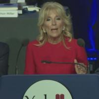 La Première Dame Jill Biden s'exprime lors du dîner de collecte de fonds de la Yeshiva Beth Yehudah à Détroit, le 24 octobre 2021. (Capture d'écran de C-Span)