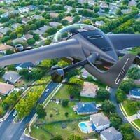 L'avion AIR one eVTOL de la start-up israélienne AIR. (Crédit : autorisation/AIR)