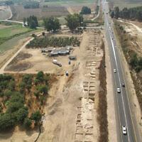 Le camp des Croisés près de Tzippori, dans le nord d'Israël (Crédit : Autorité israélienne des Antiquités)