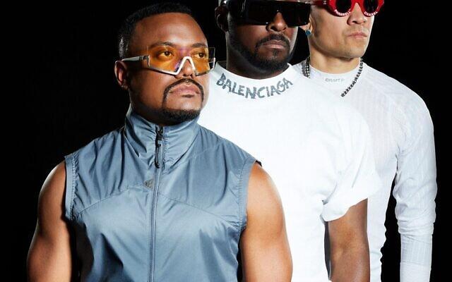will.i.am, apl.de.ap et Taboo des Black Eyed Peas se produiront à Jérusalem le 29 novembre 2021. (Crédit : PR)