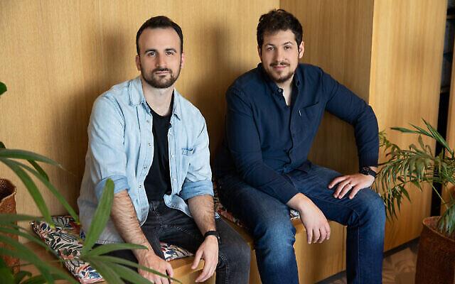 Ron Gura, à gauche, et Yonatan Bergman, les cofondateurs de la startup israélo-américaine Empathy (Courtesy)