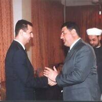 Midhat as-Saleh avec le président syrien  Bashar Assad (Capture d'écran/Kan)