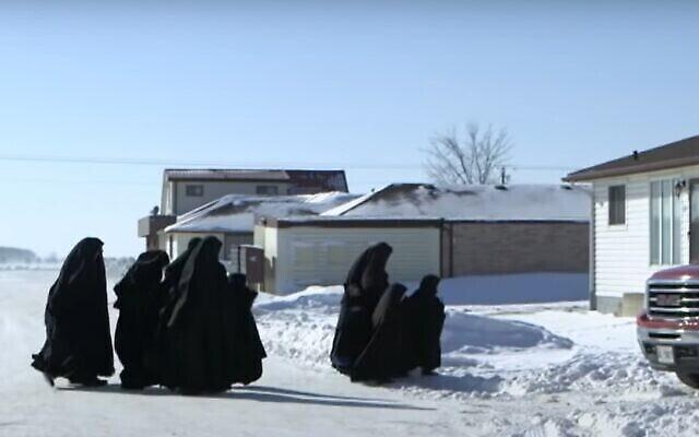 Illustration - Femmes et filles de Lev Tahor au Canada (Capture d'écran/YouTube)