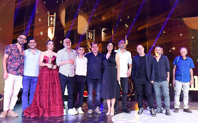 La cérémonie des Ophir Awards 2021, également connue sous le nom des Oscars israéliens, à Tel Avivo le 5 octobre 2021 (Courtesy Tomer Neuberg/ Flash90)