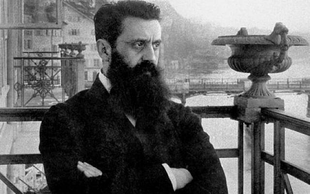 Théodore Herzl sur le balcon de l'hôtel Trois Rois à Bâle en 1898, lors du premier congrès sionsite. National Photo Collection of Israel - Domaine public