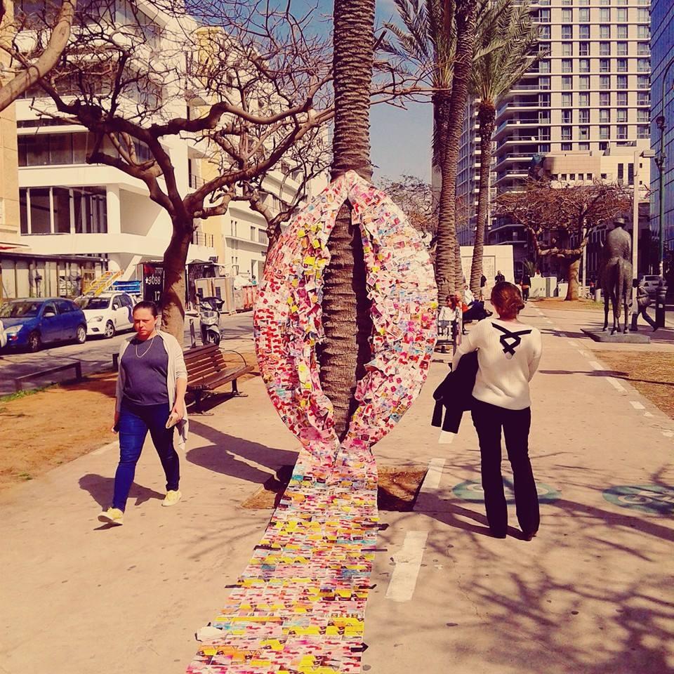 Tel Aviv today - International women day - Boulevard Rothschild.- 08/03/2016