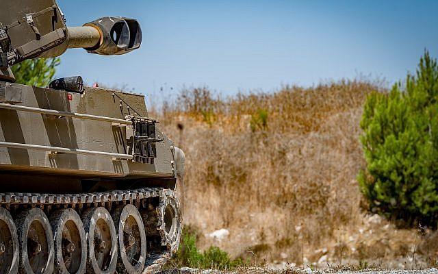 Vue d'une unité d'artillerie déployée près de la frontière libanaise à l'extérieur de la ville de Kiryat Shemona, dans le nord d'Israël, le 1er septembre 2019. Photo : Basel Awidat / Flash90