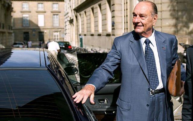 L'ancien président français Jacques Chirac arrivant à son bureau, le 01 septembre 2011. Photo : Bertrand Langlois / AFP.