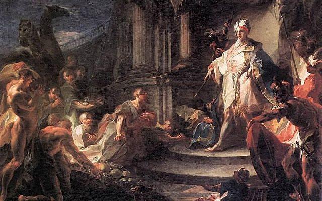 Joseph et ses frères - Franz Anton Maulbertsch (entre le 1745 et le 1750). Domaine public