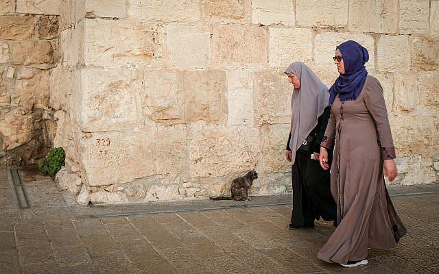 Des femmes musulmanes se promenant dans la vieille ville de Jérusalem le 22 novembre 2019. Photo de Sara Klatt / Flash90