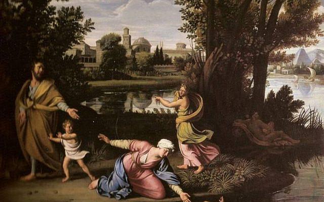 Moïse exposé sur les eaux de Nicolas Colombel (1644–1717).