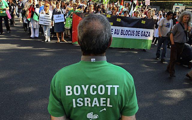 Manifestants lors d'un rassemblement pro-palestiniens à Paris, en France, le jeudi 3 juin 2010. (AP Photo / Jacques Brinon)