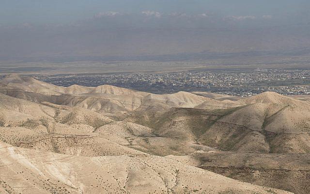 Vue sur le désert de Judée, telle qu'elle est vue depuis le point d'observation près de Mitzpe Yericho, le 30 janvier 2020. Photo par Sraya Diamant / Flash90