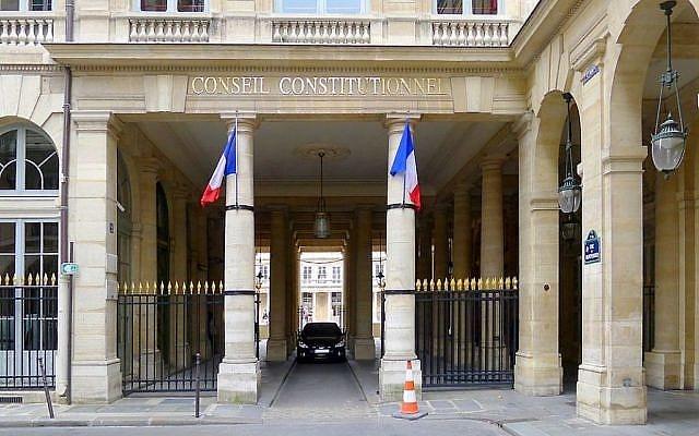 Le Conseil constitutionnel français, dans le centre de Paris. Illustration. (Crédit : Mbzt /CC BY 3.0/ WikiCommons)