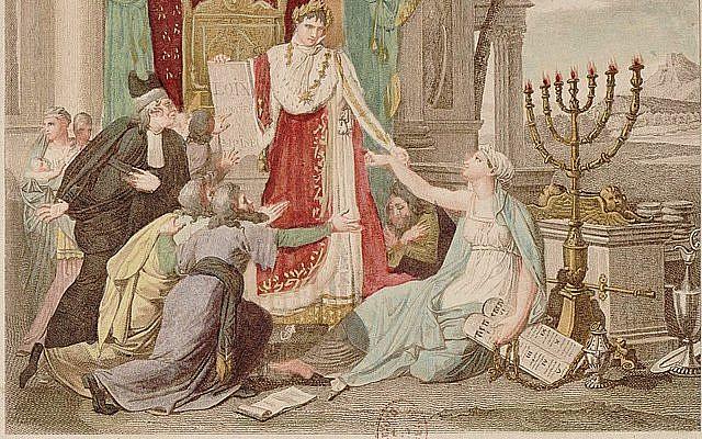 Napoléon le Grand rétablit le culte des Israélites le 30 mai 1806 - Louis François Couché (1782-1849). Domaine public