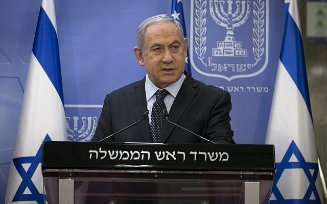 Le Premier ministre israélien Benjamin Netanyahu rencontre Brian Hook, le représentant spécial américain pour l'Iran et conseiller principal du secrétaire d'État américain, au bureau du Premier ministre à Jérusalem le 30 juin 2020. Photo Olivier Fitoussi / Flash90
