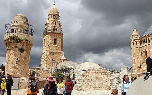 Toit du Cénacle, Jérusalem, Israël. Crédit : Pierre Orsey